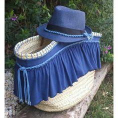 Zoom del capazo con gorro a juego. Modelo exclusivo y muy combinable en tamaño grande con asa corta y asa larga de cuero. Busca el tuyo y personalizalo en @martaquemades Buenas noches!! #summer #beach #pool #capazos #hat #gorro #blue #sun #love #cool #exclusive #limitededition #unic #girl #beauty