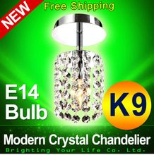 Hot !Free Shipping Small Crystal Chandelier Lustre Light,with Top K9 Crystal and Stainless Steel Frame E14 Bulb Free Shipping(China (Mainland))