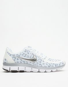 Nike White Wolf Free 5.0 V4 with Leopard print!