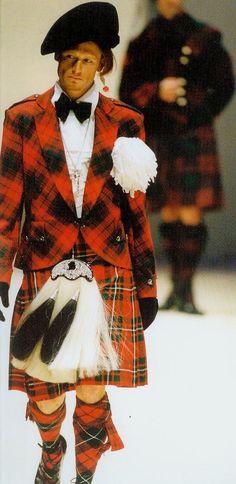 vintage tartan highland look by V.Westwood