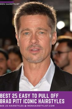 Discover the best easy pull-off Brad Pitt haircut ideas. Don't just dream about it, do it. Choose your favorite hairstyle from classic, faux hawk & more. Military Haircuts Men, Haircuts For Men, Brad Pitt Haircut, Boy Cuts, Just Dream, Crew Cuts, Pull Off, Hairstyles, Hairstyle