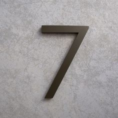 Great website for modern house numbers 7 in bronze Contemporary Fonts, Modern Fonts, Yard Design, House Design, Metal House Numbers, Pivot Doors, Signage Design, Craft Supplies, Hardware