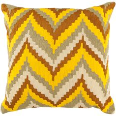 New take on chevron in this bold Surya pillow