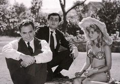 Sue Lyon, James Mason, and Stanley Kubrick at the Lolita Set