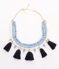 Shop Tassel Bead Necklace at vineyard vines