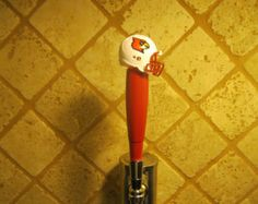 NCAA Louisvlle Cardinals Kegerator Beer Tap Handle Football  Helmet  Bar Tailgate Brew Sports -    Edit Listing  - Etsy