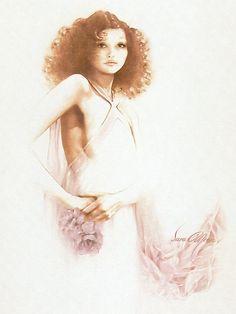 Sara Moon | Iranian Fashion painter | Tutt'Art@