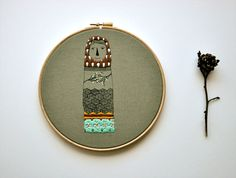 embroidery hoop art hanging wall  Lady Beekeeper