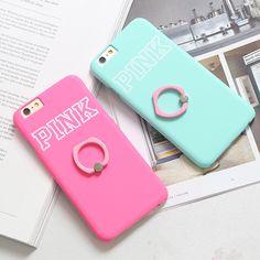 Coque Pink rigide simple avec soutien très à la mode pour iPhone 6s 6s plus sur lelinker.fr