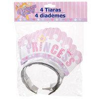Princess Party Tiaras, 4-ct. Packs