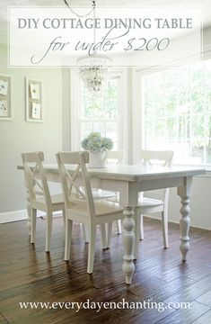 Picnic Table to DIY Cottage Dining Table Tutorial (for Under $200)