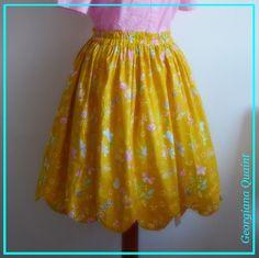 Retro žlutá sukně s obloučkovým lemem / Zboží prodejce GeorgianaQuaint 1950s, Pin Up, Retro, Skirts, Design, Fashion, Moda, Fashion Styles, Pinup