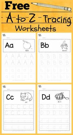 free alphabet tracing worksheets for letter a to z suitable for preschool, pre-k or kindergarten class. There are two layouts available, tracing with lines or free form tracing with boxes. Visit us at for more preschool related activities. Pre K Worksheets, Alphabet Tracing Worksheets, Free Alphabet Tracing Printables, Tracing Letters, Abc Tracing, Tracing Sheets, Print Letters, Printable Shapes, Number Tracing