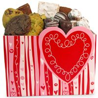 Me Loves Cookies : Valentine's Red Heart Box