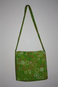 Green Swirls Messenger/Diaper Bag   #handmade #bag #purse #sewing #diaper