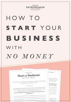 Thanks to the internet, you can absolutely start a business with no money. The key is to focus on building your audience. Here are 4 ways that you can do this. // Female #Entrepreneur Association