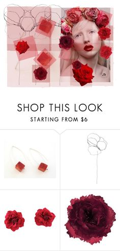 """""""Red Sponge.............."""" by neotericstudio ❤ liked on Polyvore featuring Albino, Blume and Accessorize"""