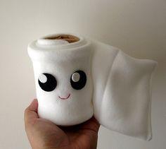 Toilet Paper Roll Plush by mypapercrane on Etsy, via Etsy.