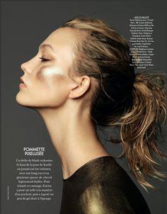 Elle France December 2014 | Karlie Kloss by Nico [Beauty]