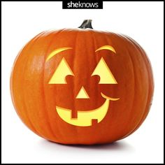 Happy Pumpkin template: 31 pumpkin carving templates to help you wow the neighborhood. Pumpkin Face Templates, Pumpkin Template, Halloween Jack, Halloween Pumpkins, Halloween Prop, Halloween Witches, Halloween Quotes, Happy Halloween, Rustic Halloween