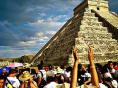 Myan pyramid  during the  Spring Equinox, Yucatan, Mexico – There were several indigenous empires previous to the Aztecs. A lot of people believe that the Aztecs were the leading power in Mexico but they were just a power in a region. There are the Mayans down south and other indigenous tribes controlling the north.