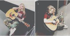Sabri con la guitarra