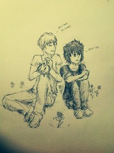 I've never really gotten the obsession with flower crowns (I've seen a LOT of fan art with them) but this is adorable