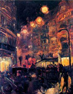 El cuadro 'Stasse bel Natch' (Calle de noche) 1913, Beckmann.