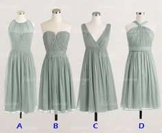 Hey, I found this really awesome Etsy listing at https://www.etsy.com/listing/166811298/dusty-green-bridesmaid-dresses-short