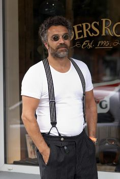 Pinstripe x 2, Pants and Suspenders