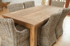 Reclaimed Wood Dining Table   Dining Table + 6 Donna Chairs - Reclaimed Teak Dining Sets - Dining ...