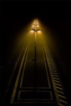 ♂ yellow lights in dark plattform by Rainer Burkard Urban Photography, Night Photography, Street Photography, Landscape Photography, Photography Lighting, Urbane Fotografie, To Infinity And Beyond, Chiaroscuro, Light And Shadow