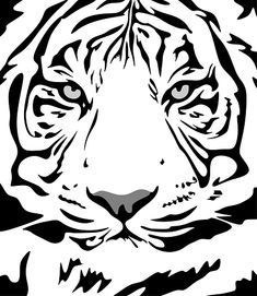 Tiger Pattern Animal - Free vector graphic on Pixabay Pet Gifts, Home Gifts, Baby Gifts, Animal Stencil, Tiger Stencil, Minx Nails, Japanese Embroidery, Scroll Saw, Animal Design