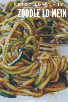 Zoodle Lo Mein Stir Fry — LOW CARB QUICK Easy and delicious keto zoodle lo mein. The ultimate in keto comfort food, Asian style!Easy and delicious keto zoodle lo mein. The ultimate in keto comfort food, Asian style! Low Carb Recipes, Diet Recipes, Cooking Recipes, Healthy Recipes, Vegan Zoodle Recipes, Zucchini Noodle Recipes, Steak Recipes, Stir Fry Zucchini Noodles, Cooking Okra