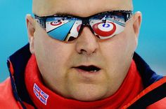 Gregor Ewan of Great Britain competes in curling at the Sochi 2014 Paralympic Winter Games in Russia