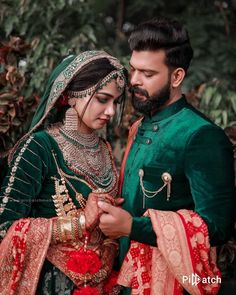Color coordianted outfits for brides and groom: . in 2020 Couple Photoshoot Poses, Wedding Photoshoot, Couple Wedding Dress, Wedding Couple Photos, Wedding Dresses, Bridal Mehndi Dresses, Bridal Lehenga, Lehenga Choli, Indian Wedding Couple Photography
