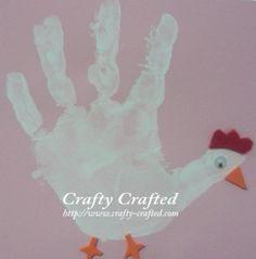 Kip geschilderd mbv hand