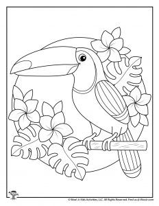 Summer Adult Coloring Pages | Woo! Jr. Kids Activities Summer Coloring Pages, Bird Coloring Pages, Printable Coloring Pages, Coloring Pages For Kids, Coloring Books, Simple Coloring Pages, Colouring Sheets For Adults, Kids Colouring, Pattern Coloring Pages
