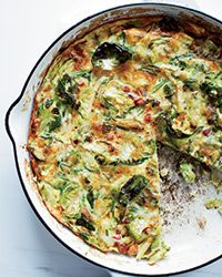 Brussels Sprout, Bacon and Gruyère Frittata - try it with the best! Tender Belly. www.tenderbelly.com