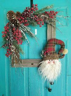 Diy Christmas Decorations For Home, Christmas Wreaths To Make, Christmas On A Budget, Noel Christmas, Xmas Crafts, Rustic Christmas, Christmas Projects, Christmas Ornaments, Christmas Tables