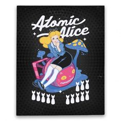 Atomic Alice Canvas Print   HUMAN   Alice as WWII bomber girl