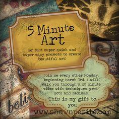 5 min art Tutorials www.shawnpetite.com