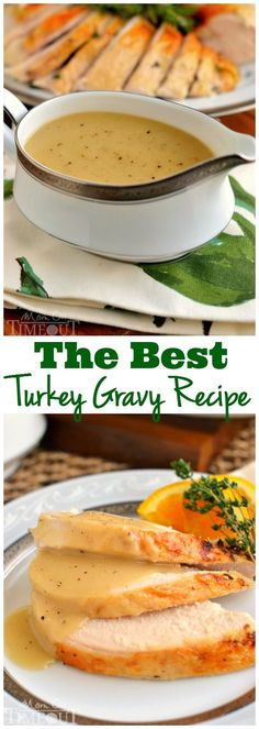Silky smooth and perfectly rich, this really is the BEST Turkey Gravy recipe around! Step-by-step instructions! | MomOnTimeout.com | #Thanksgiving #Christmas