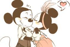 Mickey and Minnie Mouse, Walt Disney Disney Amor, Disney Love, Disney Magic, Disney Kiss, Disney Couples, Disney Style, Disney And Dreamworks, Disney Pixar, Disney Characters