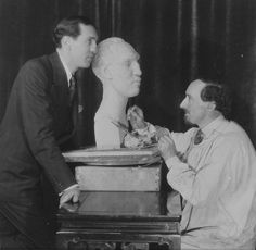 Frank Dobson R.A. (sculptor) with Sidney Bernstein. Dobson served with The Artists Rifles during WWI - http://en.wikipedia.org/wiki/Frank_Dobson_%28sculptor%29