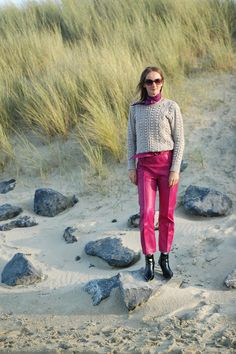 OceanblueStyle at Manderley: pink power für den herbst und materialmix am meer