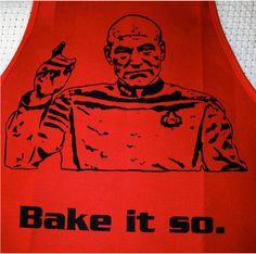 Oh, jean luc... i'd wear you on an apron any day.