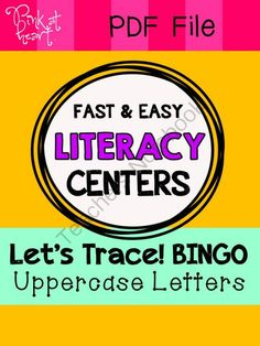 Fast and Easy Literacy Centers: Lets Trace! BINGO Uppercase Letters ...