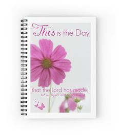 'Psalm Spiral Notebook by Donna Keevers Driver Psalm 118, Psalms, Samsung Galaxy Cases, Iphone Cases, Rejoice And Be Glad, Stationeries, Drawstring Bags, Pencil Skirts, Ipad Case