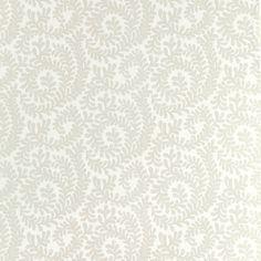 Berkeley Scroll White Wallpaper